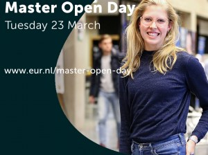 Online Master Open Day Erasmus University Rotterdam on March 23